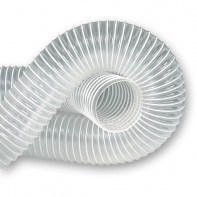 Clear Reinforced PVC Extraction Hose 102mm