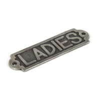 From The Anvil Antique Pewter Ladies Sign