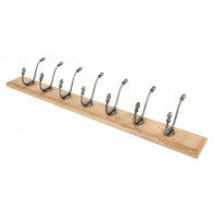 From The Anvil Farmhouse Hat & Coat Rack - Natural Smooth & Timber
