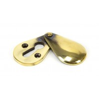 From The Anvil Aged Brass Plain Escutcheon