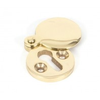 From The Anvil Polished Brass Round Escutcheon