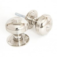 From The Anvil Prestbury Mortice Rim Knob Set - 60mm - Polished Nickel