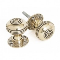 From The Anvil Prestbury Mortice Rim Knob Set - 50mm - Aged Brass