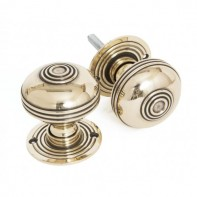 From The Anvil Prestbury Mortice Rim Knob Set - 60mm - Aged Brass