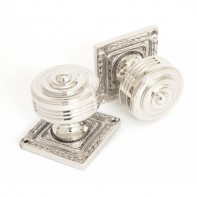 From The Anvil Tewkesbury Square Mortice Knob Set - Polished Nickel