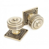 From The Anvil Tewkesbury Square Mortice Knob Set - Aged Brass