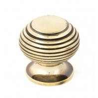 From The Anvil Antique Brass Beehive Cabinet Knob - Small
