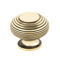 From The Anvil Antique Brass Beehive Cabinet Knob - Large