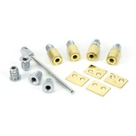 From The Anvil Polished Brass Secure Stops (Pack of 4)