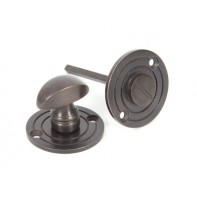 From The Anvil Aged Bronze Round Bathroom Thumbturn