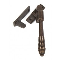 From The Anvil Aged Bronze Night Vent Reeded Fastener - Locking
