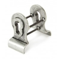 From The Anvil Pewter 50mm Euro Door Pull (Back to Back fixings)