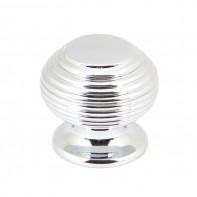 From The Anvil Polished Chrome 30mm Beehive Cabinet Knob