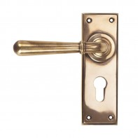 From The Anvil Polished Bronze Newbury Lever Euro Set