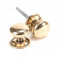 From The Anvil Polished Bronze Mushroom Mortice/Rim Knob Set