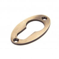 From The Anvil Polished Bronze Oval Euro Escutcheon
