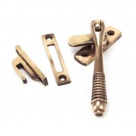 From The Anvil Polished Bronze Reeded Fastener - Locking