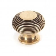 From The Anvil Polished Bronze Beehive Cabinet Knob - Large