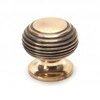From The Anvil Polished Bronze Beehive Cabinet Knob - Small