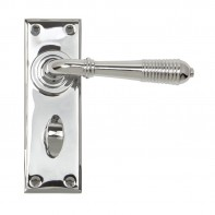 From the Anvil Polished Chrome Reeded Lever Bathroom Set