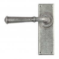 From the Anvil Pewter Regency Lever Latch Set