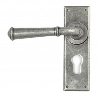 From the Anvil Pewter Regency Lever Euro Lock Set