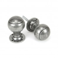 From the Anvil Pewter Regency Mortice/Rim Knob Set