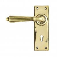 From The Anvil Aged Brass Hinton Lever Lock Set