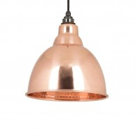 From the Anvil Hammered Copper Brindley Pendant