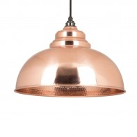 From the Anvil Hammered Copper Harborne Pendant