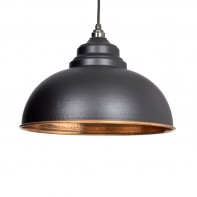From the Anvil Black Hammered Copper Harborne Pendant