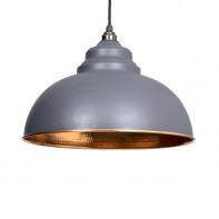 From the Anvil Dark Grey Hammered Copper Harborne Pendant