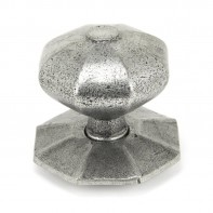 From the Anvil Pewter Octagonal Centre Door Knob - Internal