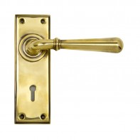 From the Anvil Aged Brass Newbury Lever Lock Set