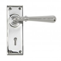 From the Anvil Polished Chrome Newbury Lever Lock Set
