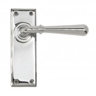 From the Anvil Polished Chrome Newbury Lever Latch Set