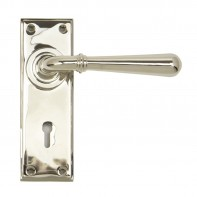 From the Anvil Polished Nickel Newbury Lever Lock Set