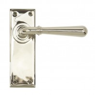 From the Anvil Polished Nickel Newbury Lever Latch Set