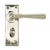 From the Anvil Polished Nickel Newbury Lever Bathroom Set