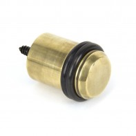 From the Anvil Aged Brass Floor Mounted Door Stop