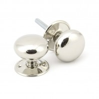 From the Anvil Polished Nickel 57mm Mushroom Mortice/Rim Knob Set