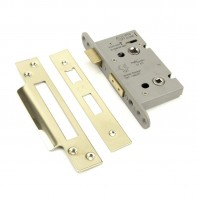 "From the Anvil PVD 2 1/2"" Heavy Duty Bathroom Mortice Lock"
