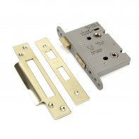 """From the Anvil PVD 3"""" Heavy Duty Bathroom Mortice Lock"""