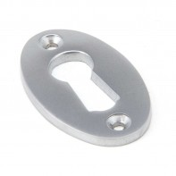 From The Anvil Satin Chrome Oval Escutcheon