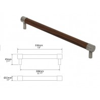 Finesse Milton American Black Walnut and Pewter Round Bar Handle 288mm
