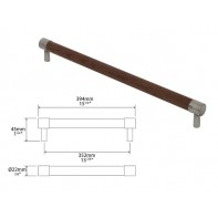 Finesse Milton American Black Walnut and Pewter Round Bar Handle 352mm