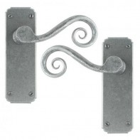 From The Anvil Pewter Patina Unsprung Lever Latch Set