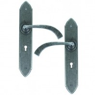 From The Anvil Pewter Patina Gothic Curved Sprung Lever Lock Set