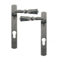 From The Anvil Pewter Narrow Lever Espag. Lock Set