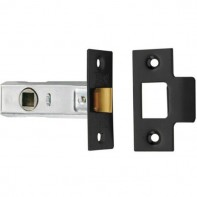 """From The Anvil Black Tubular Mortice Latch 2.5"""" - 64mm"""